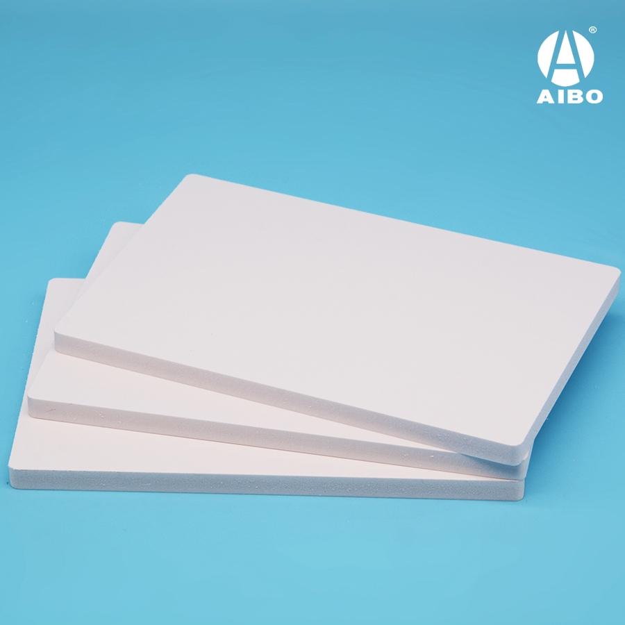 Pvc sheet 4.8mm thickness customized size matt white pvc board