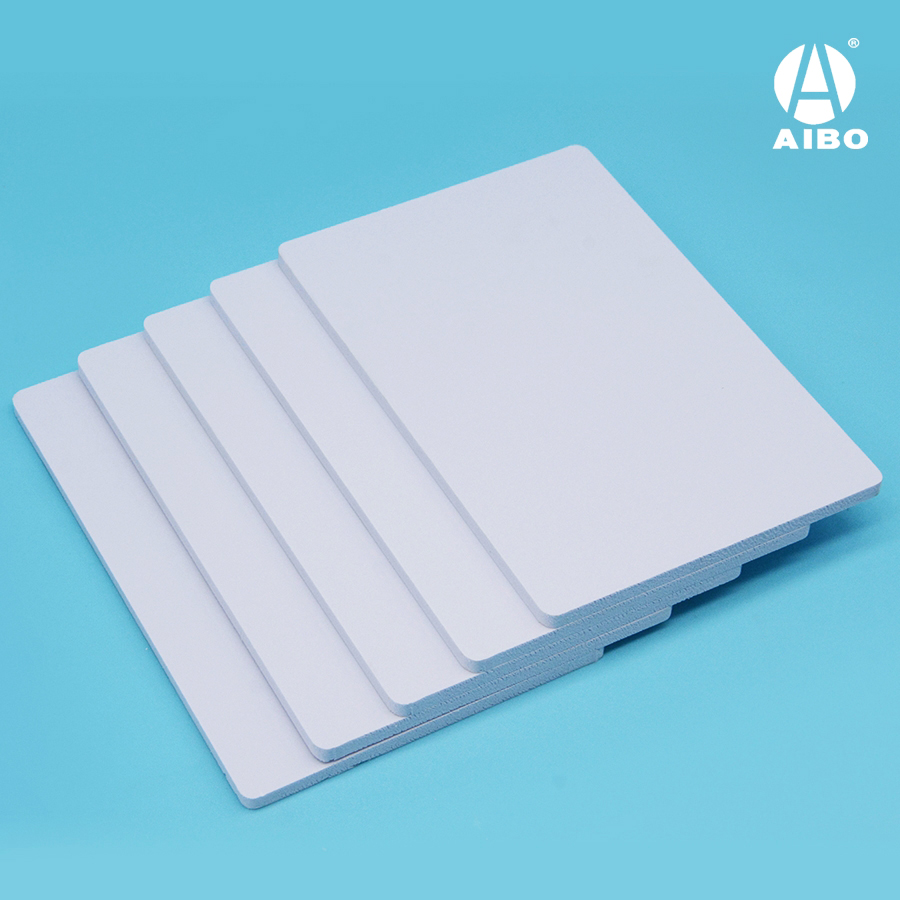 8mm expanded pvc  with bright white  rigid  surface for European market