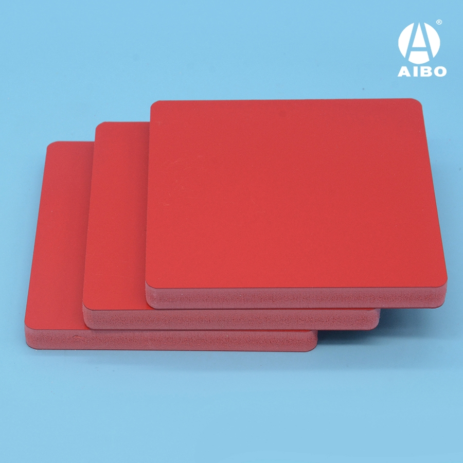 High quality colored/red 4x8 pvc foam sheet sintra board for sign