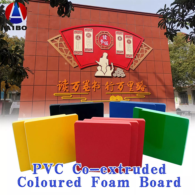 PVC Co-Extruded Colored Foam Sheets