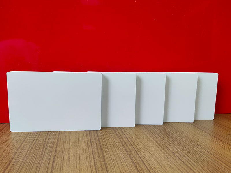 4X8' White Colored Expanded Solid Forex PVC