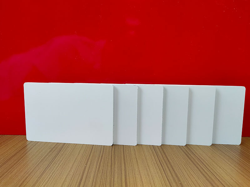 Pvc sheet 4.8mm thickness customized size matt white pvc board